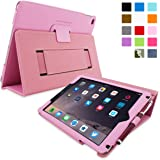 iPad Air 2 Case, Snugg - Candy Pink Leather Smart Case Cover [Lifetime Guarantee] Apple iPad Air 2 Protective Flip Stand Cover with Auto Wake / Sleep