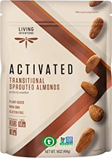 product image for Living Intentions Sprouted Transitional Almonds, Nongmo, Gluten Free, Vegan, Paleo, Kosher,16 Oz