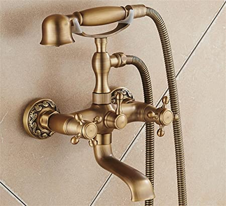 SUN-Antique Tub And Shower Handshower Included with Ceramic Valve ...