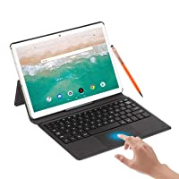 Tablet 10.8 Inch Android 10.0,6GB RAM+128GB /512GB ROM 10-core 2.3Ghz Tablets, 5G WiFi Dual SIM 4G LTE 16MP 16:10 FHD+ Computer Tablets with Keyboard & Tablets Case,8000mAh,Type C/GPS/OTG (Orange)