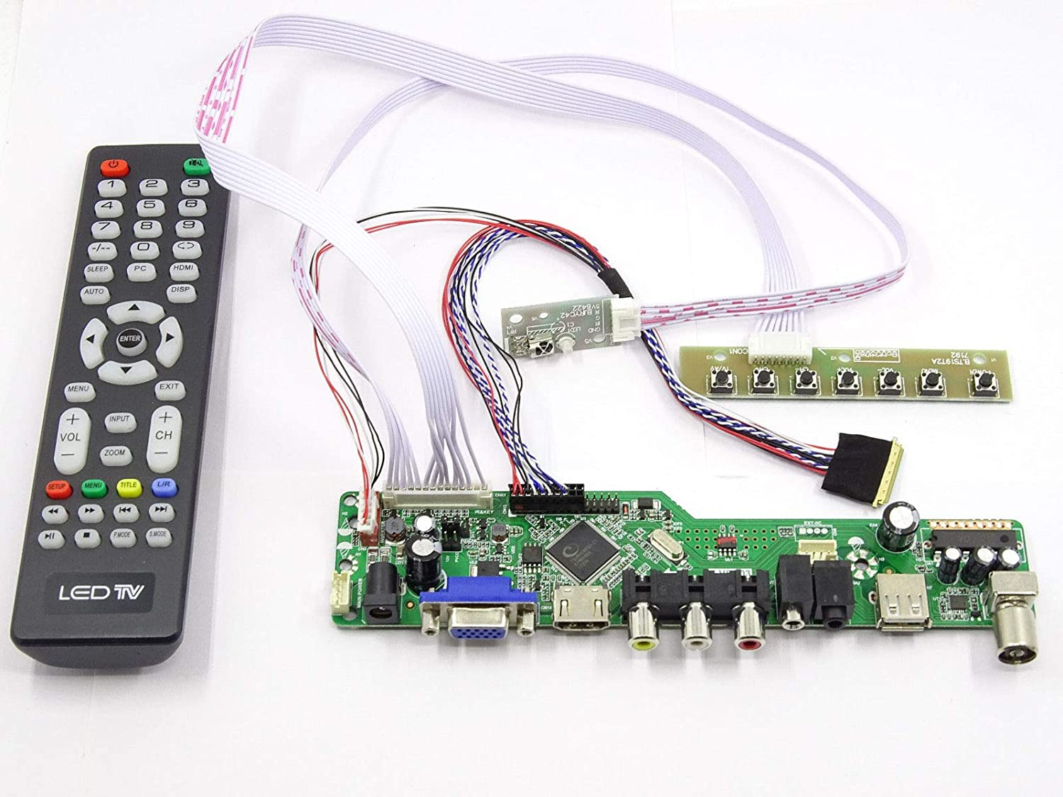 Kit for LP133WX3-TLA5 TV+HDMI+VGA+USB LCD LED screen Controller Driver Board