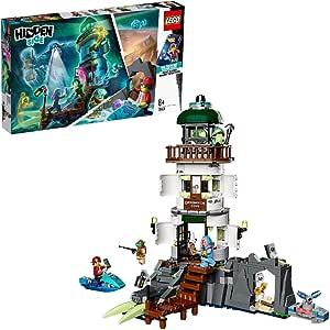 LEGO Hidden Side - Faro de la Oscuridad, Juguete de Construcción con App de Realidad Aumentada, Incluye Moto Acuática y Minifiguras de Fantasmas, a Partir de 8 Años (70431)