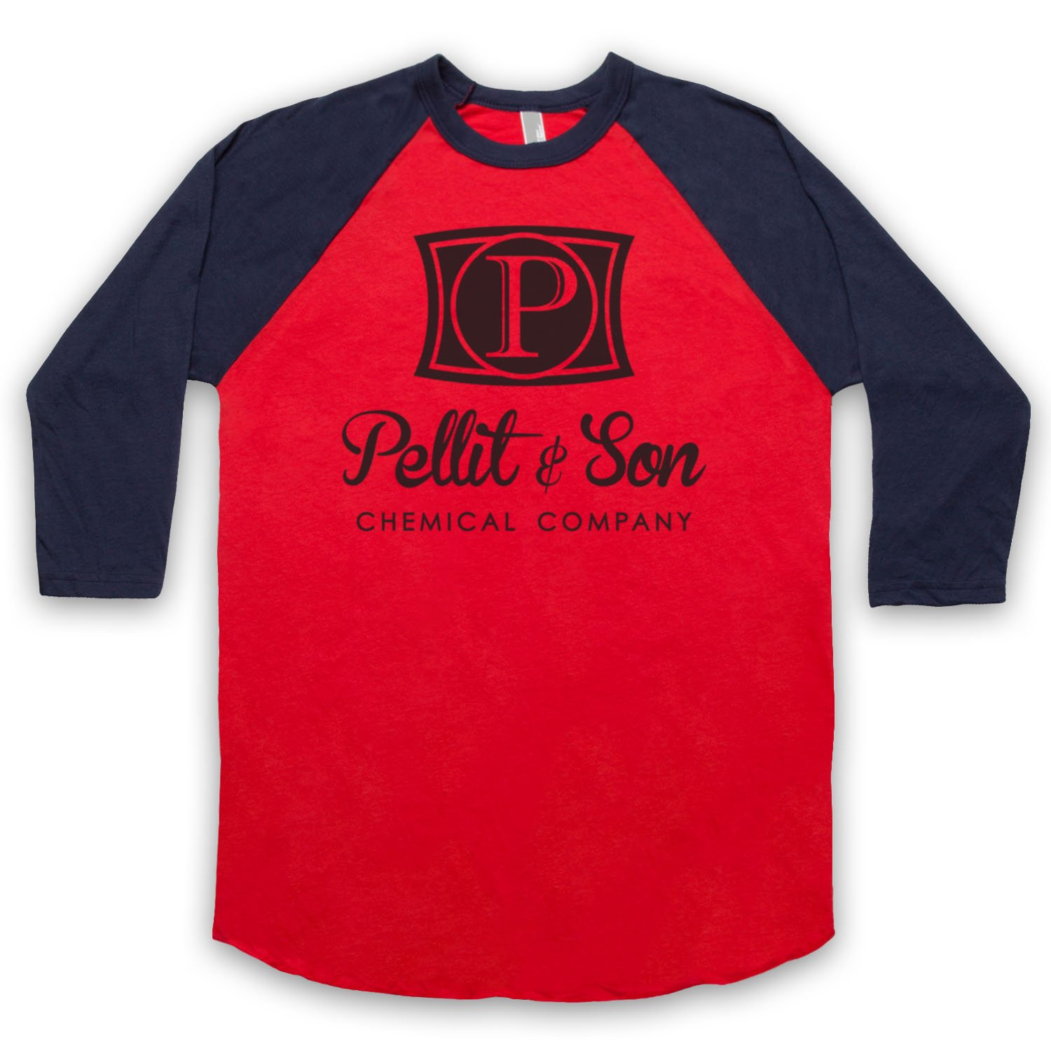 Inspired by Horrible Bosses Pellit & Son Chemical Company Unofficial 3/4 Sleeve Retro Baseball Tee