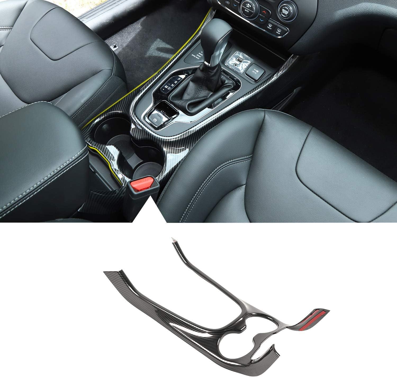 Navigation Frame Cover NO7RUBAN Dashboard GPS Navigation Carbon Fiber Sticker /& Carbon Fiber Style Cover Trim for 2014-2019 Jeep Grand Cherokee