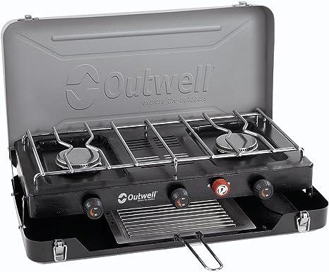 Outwell Cocina Camping Deluxe con 3 Fuegos Tostadora: Amazon ...