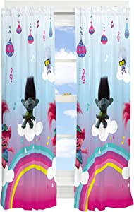 "Franco Kids Room Window Curtain Panels Drapes Set, 82"" x 63"", Trolls World Tour"