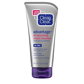 Clean & Clear Oil Absorbing Cream Facial Cleanser