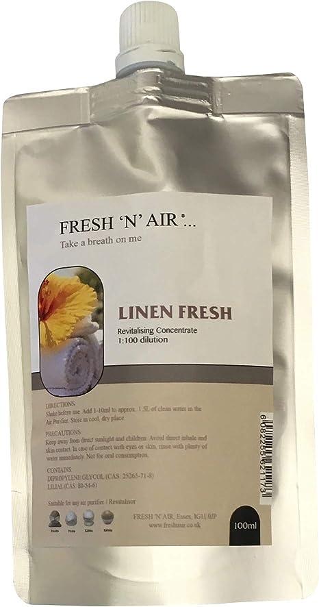 Linen Fresh purificador de Aire Fragancia Esencia (100 ml): Amazon ...