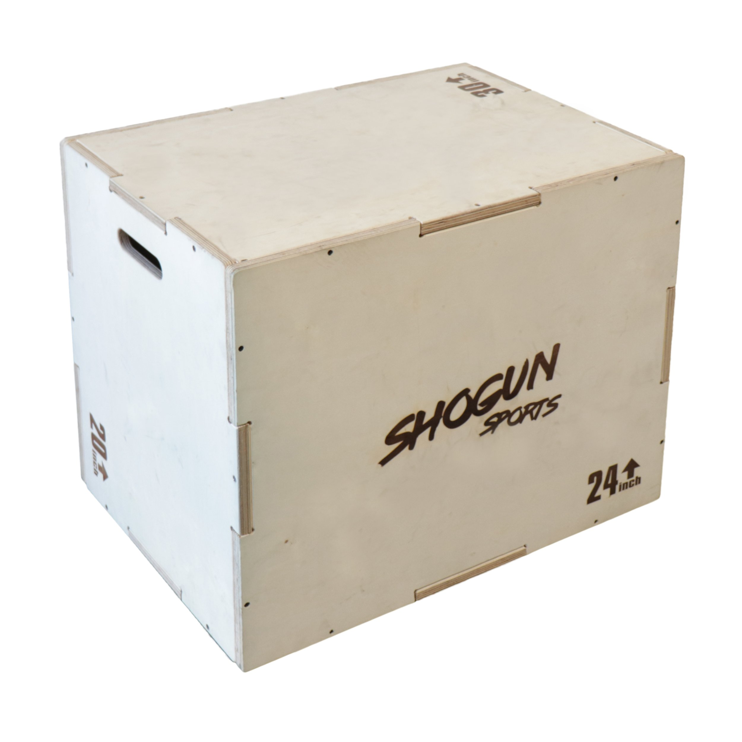 Shogun Sports 3 in 1 Wood Plyometric Box. Jump Box for Crossfit, MMA Conditioning and Strength Training. Available in 4 Sizes (30/24/20-24/20/16-20/18/16-16/14/12) (20/24/30)