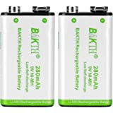 BAKTH 6P形 充電池 ニッケル水素電池 9V 280mAh Ni-MH 2本パック NH925P02