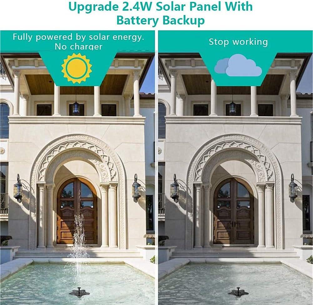 TXDIRECT Springbrunnen Solar Garten Solar Teichpumpe Springbrunnen Solar Brunnen Pumpe Mini Solar Wasser Brunnen Schwimm Solar Brunnen