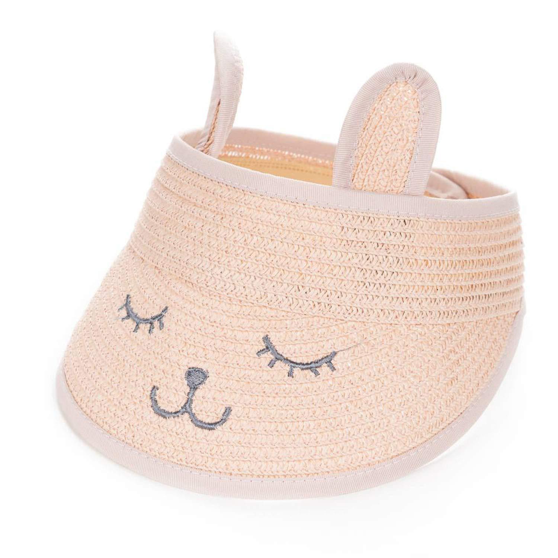 1b83df9fc67 Amazon.com  Fashion Ears Straw Hats Baby Hats for Girls Bucket Hat Cap  Children Sun Summer Cap Kids Solid Beach Caps  Clothing
