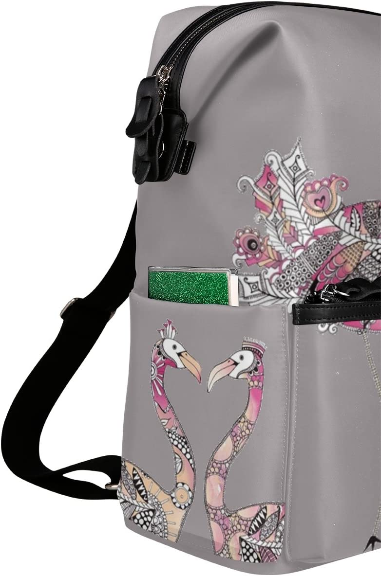 Laptop Backpack Lightweight Waterproof Travel Backpack Double Zipper Design with Watercolor Animal Ostrich School Bag Laptop Bookbag Daypack for Women Kids