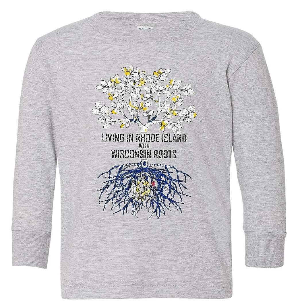 Tenacitee Babys Living in Rhode Island Wisconsin Roots Shirt