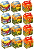 VALUE PACK 12 x Dinosaur Paper Lunch Box Going Home Present Picnic Boxes by My Planet
