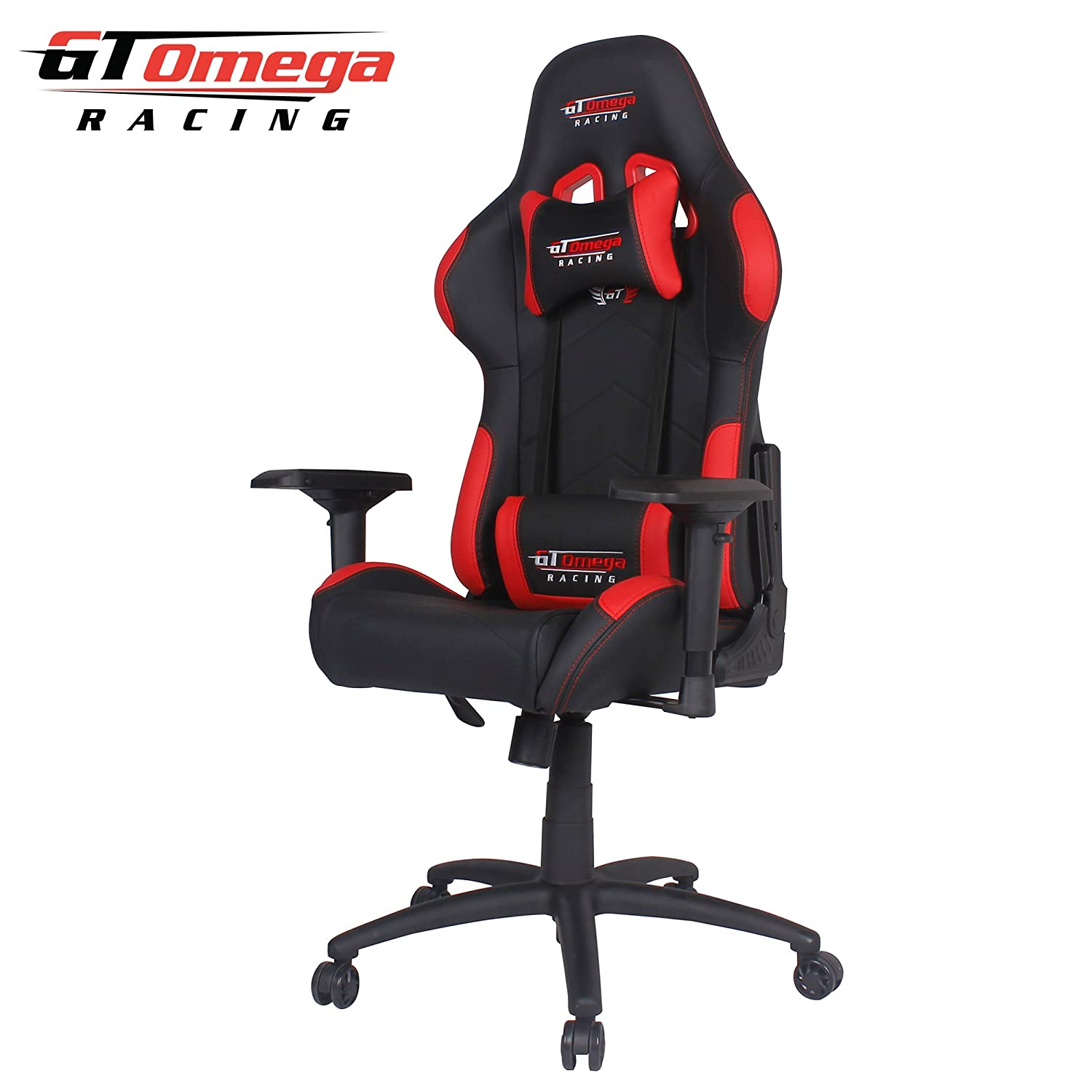 Amazon GT Omega PRO Racing fice Chair Black and Red Leather Kitchen & Dining
