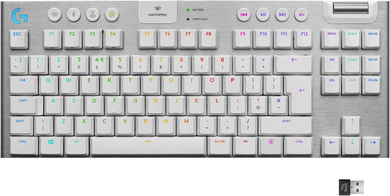 Logitech G915 TKL White Wireless RGB Mechanical Keyboard