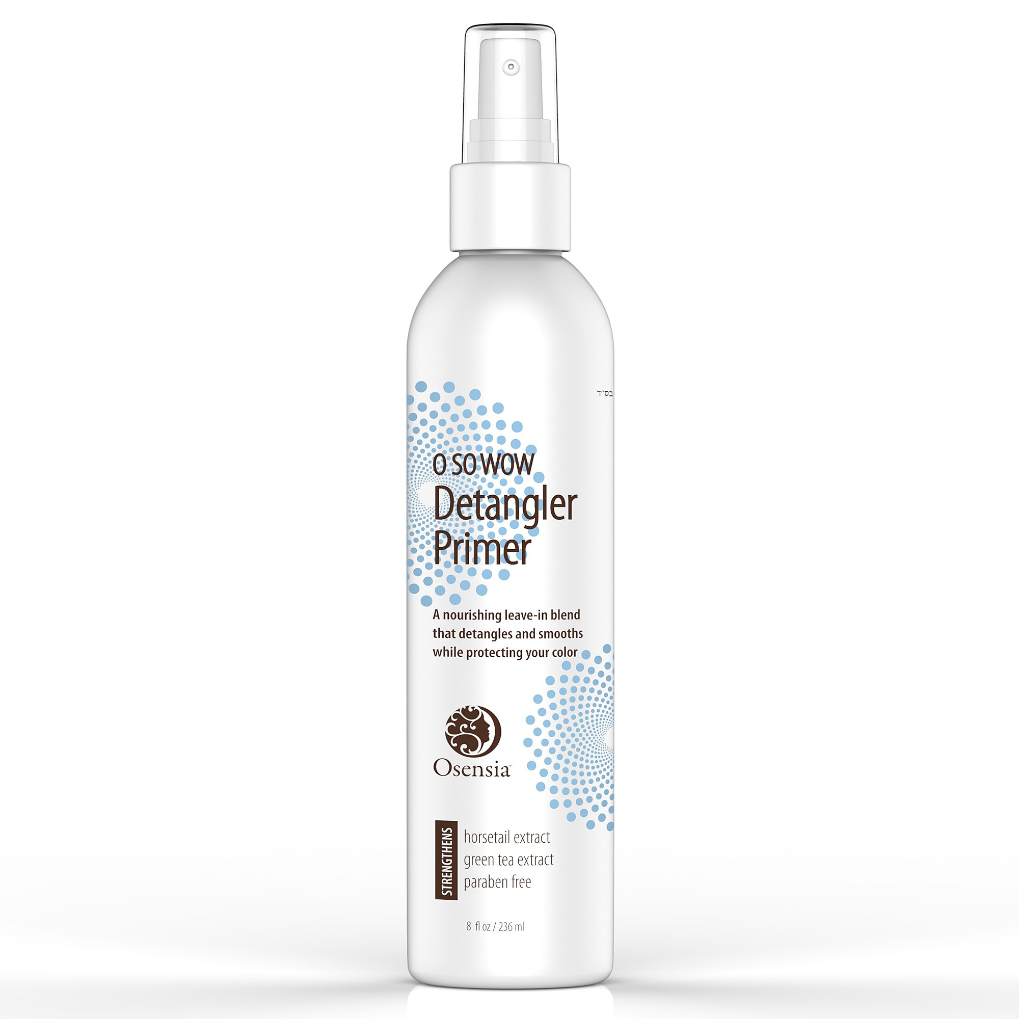 Detangling Leave In Conditioner and Primer – Heat Protectant Spray - Moisturizing, Detangle, Prime, Strengthen Hair with Horsetail Extract, Paraben Free by Osensia, 8oz by Osensia