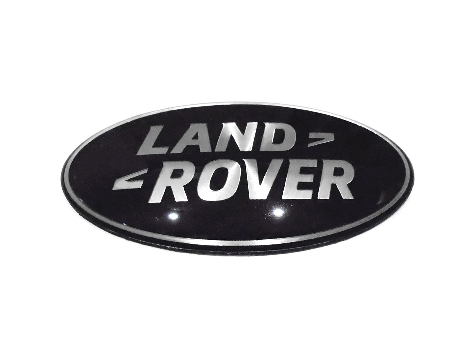 Land Rover Black Silver Front Grill Emblem Badge Size 86mm X