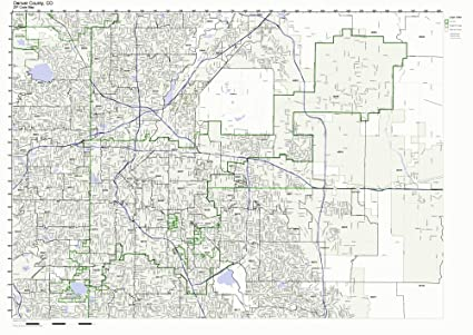 Amazon Com Denver County Colorado Co Zip Code Map Not Laminated