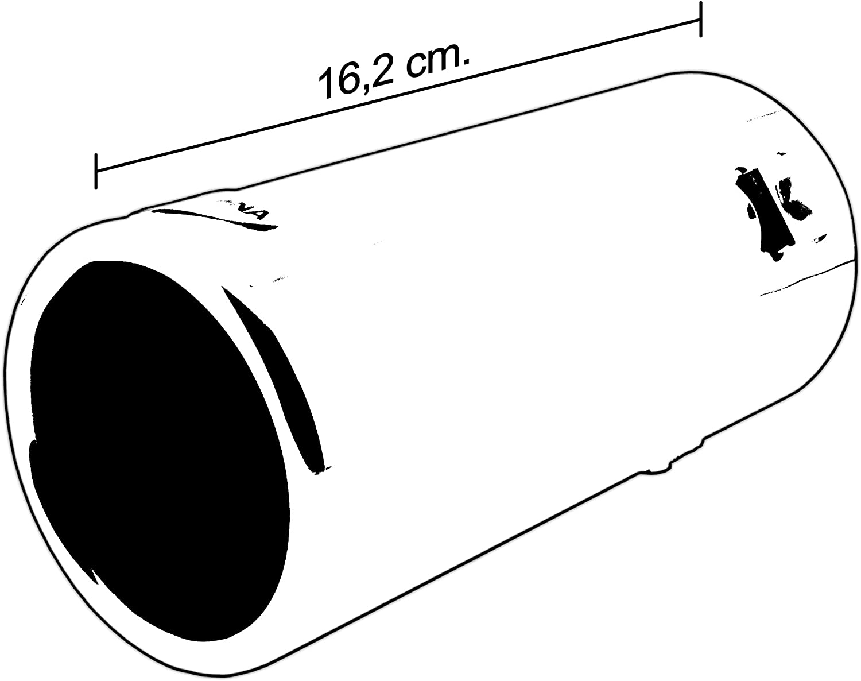BC Corona EXT83103 Terminal Escape Sportive Redonda Acero Cromado Coche 80 mm Maximo de 76 mm, Salida 66mmx60mm, diámetro MAX. 66mm