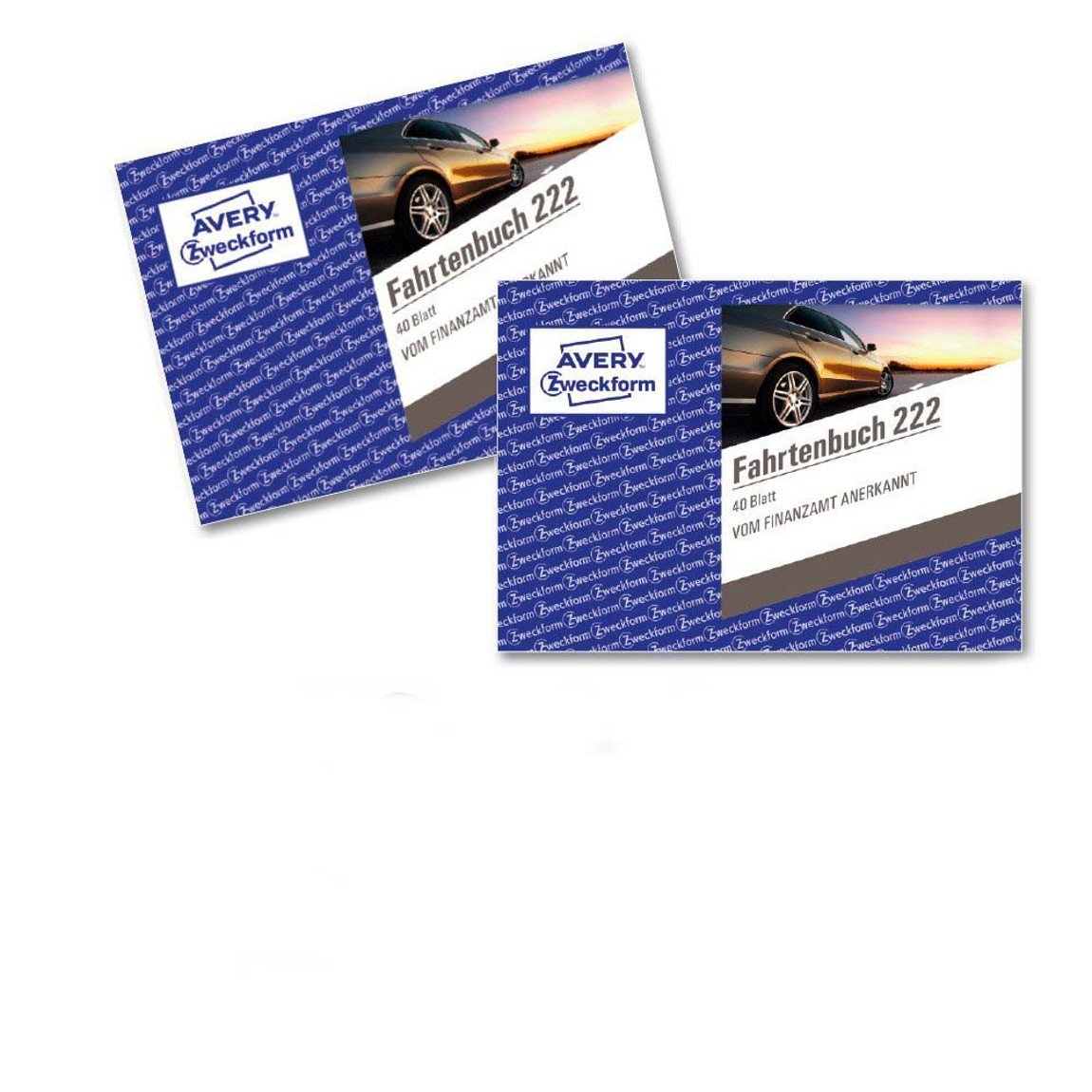 Avery Zweckform 222Car Ride Book (A6Landscape Format 40Sheets–White 2 Items