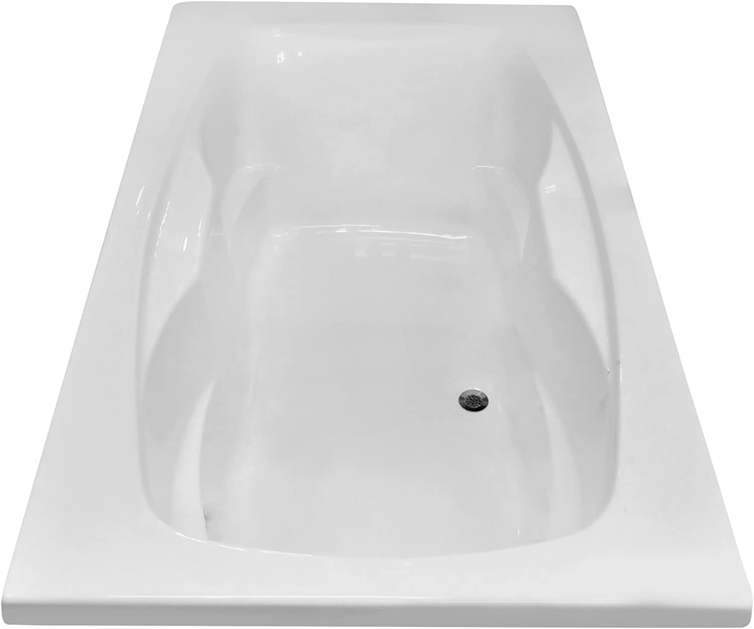 Carver Tubs – AR7242-72 L x 42 W x 20.5 H – White Drop In Acrylic Soaking BathtubCarver Tubs AR7242-72 x 42 Drop-In Soaking Bathtub