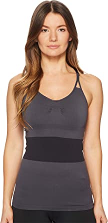 9fa48166795f3 adidas by Stella McCartney Women s Grey Seamless Tank Top CE8442 Night  Steel X-Small