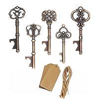 AmaJOY - Pack de 50 llaveros de cobre envejecido, estilo vintage, para obsequios de bodas, cumpleaños, y fiestas