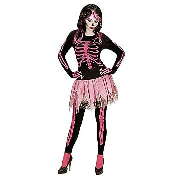 WIDMANN Disfraz Adulto Colour Rosa con diseño de Calavera ...