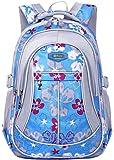 Coofit School Backpack for Girls Flowers Pattern Backpacks for Middle School Cute Bookbag for School