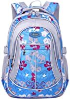 Tinksky Girls Sports Backpack Flowers Pattern Travel Backpacks Students Book Bag
