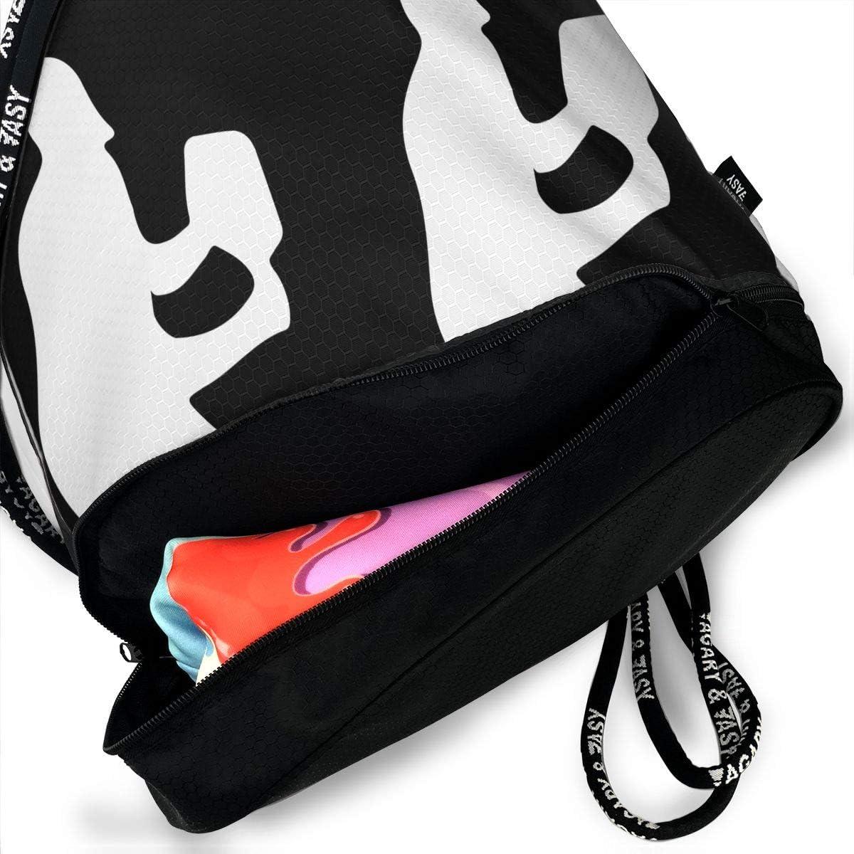 Drawstring Backpack Pickleball Player Silhouette 32 Rucksack