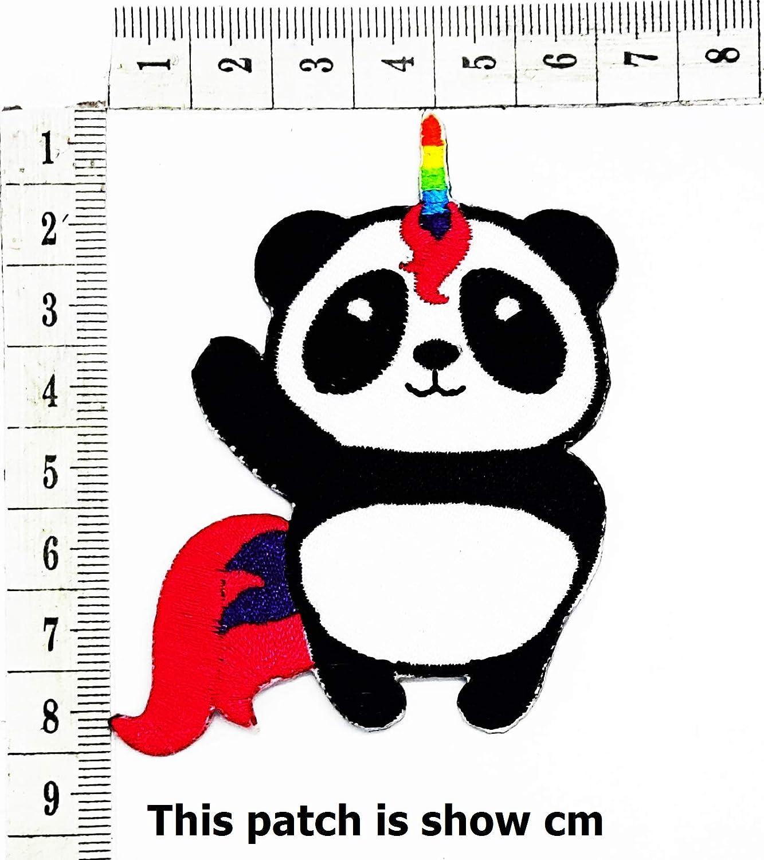 Panda Rainbow Unicorn Horse Fancy Animal Cartoon Chidren Kids Embroidren Iron Patch/Logo Sew On Patch Clothes Bag T-Shirt Jeans Biker Badge Applique Devil Artwork