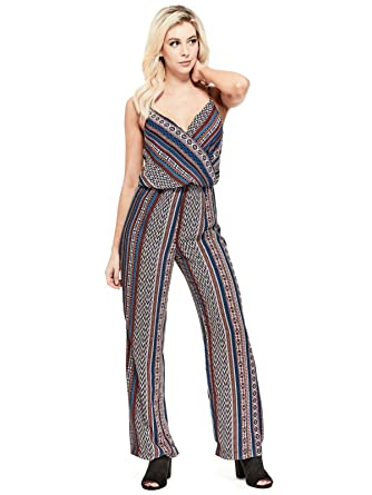 b947a2babc22 Amazon.com  GUESS Factory Women s Rowley Printed Jumpsuit  Clothing