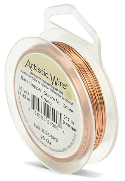 26 Gauge Wire >> Beadalon Artistic Wire 26 Gauge Bare Copper Wire 30 Yards