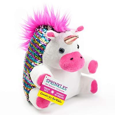 Creativity for Kids Mini Sequin Pets, Sprinkles The Unicorn Plush Toy - Weighted Sensory Toys for Kids: Toys & Games