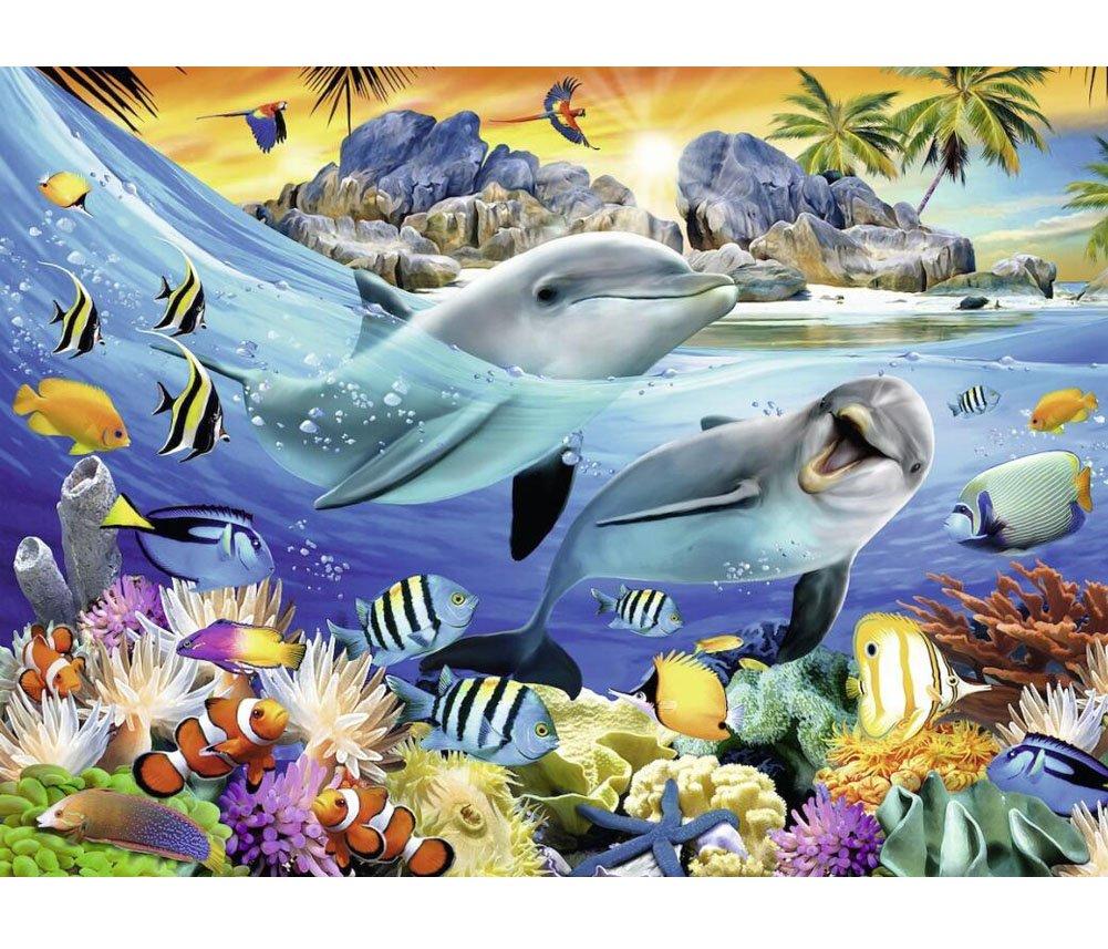 nero Temptation Puzzle di animali in legno modello Ocean Animals - 1000 pezzi