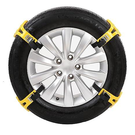 Per 4pcs Cadenas Antideslizante de Nieve y Arena para Neumáticos de Coche y Moto Cadenas Universal