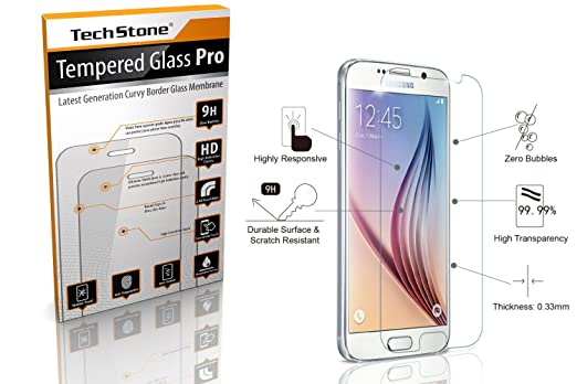galaxy s6 screen protector glasstempered glass samsung galaxy s6 screen 9h hardness amazoncom tempered glass