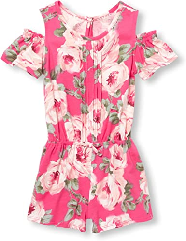 The Childrens Place Girls Big Floral Print Ruffle Romper