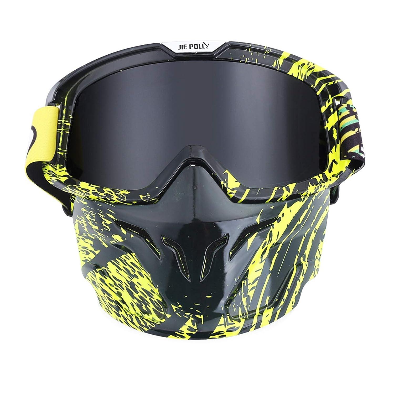 SonMo Nachtsichtbrille Schutzbrille Motorradbrille Sportbrille Snowboardbrille Skibrille Radbrille PC Sportbrille Polarisiert Blendschutz mit UV Schutz Winddicht