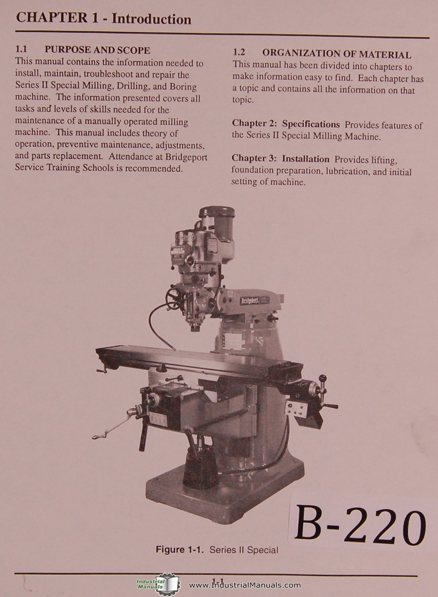 Bridgeport Series II Special Milling Drilling Boring Machine Manual:  Bridgeport: Amazon.com: Books