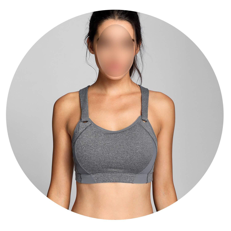 Womens High Impact Wire Free Full Coverage Lightly Padded Sports Bra,Grey05,B,40