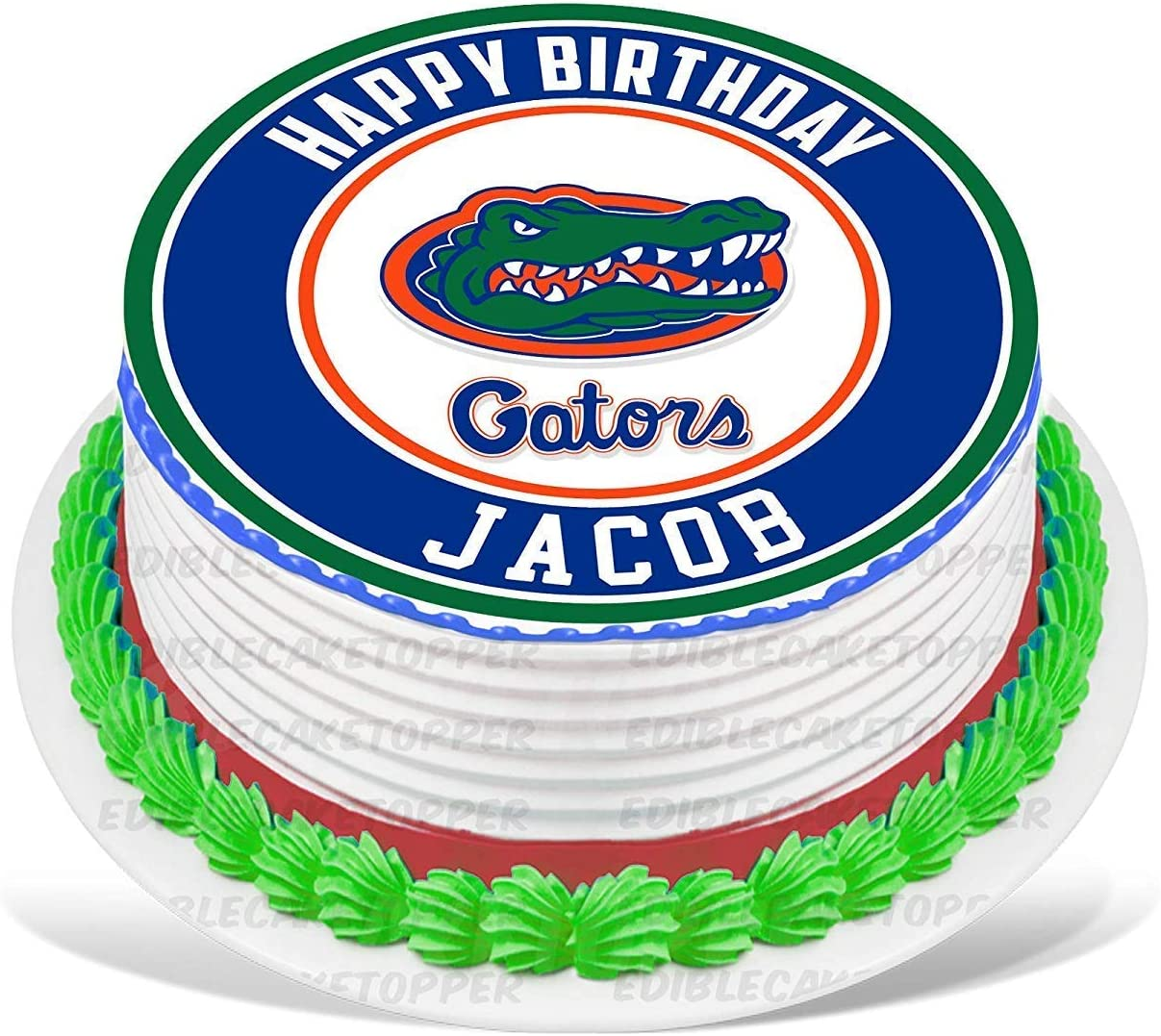 Miraculous Amazon Com Partyprint Florida Gators Edible Cake Topper Personalised Birthday Cards Veneteletsinfo