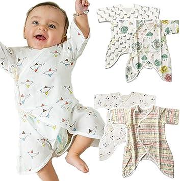 95beedbc4b7 iikuru コンビ肌着 新生児 半袖 男の子 女の子 ベビー 服 0歳 夏 ガーゼ x918