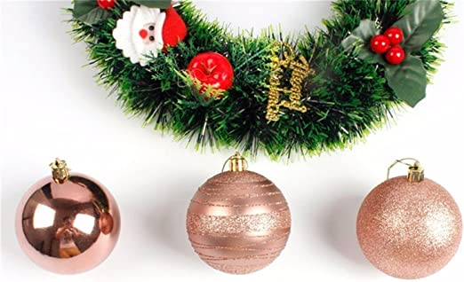 12Pcs Christmas Tree Pendant Hanging Clear Ball Ornaments Xmas Party Decorations