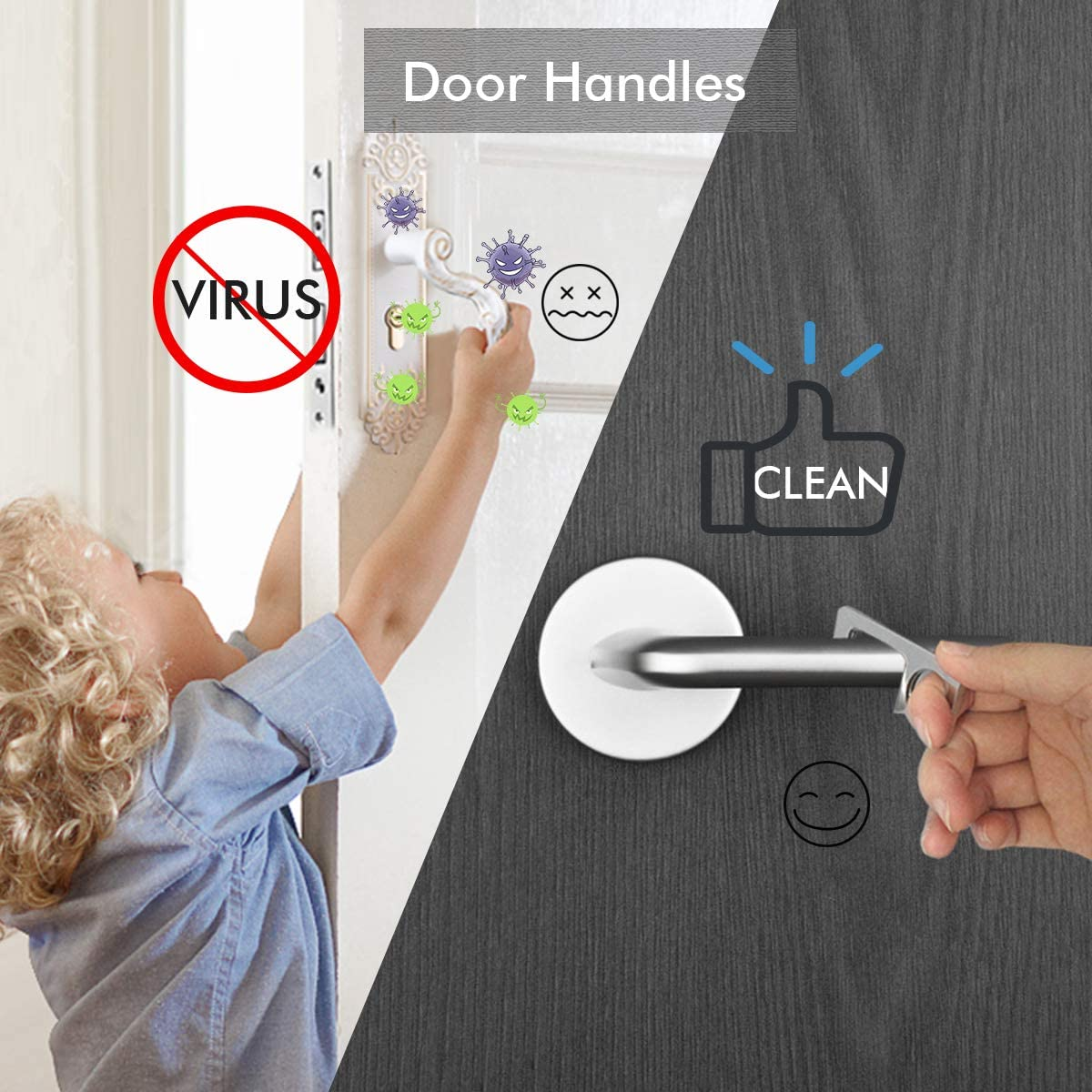 HLenyoy Clean Key No Touch Door Opener Stylus Keychain