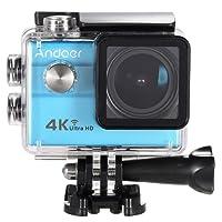 Action Cam 4k WI-FI Ultra HD ,Andoer Action Camera ,Videocamera Ultra HD 1080p / 60 fps, 2.0  LCD con Custodia Impermeabile 30M Subacqueo Action Sport Camera 173°Grandangolare e Kit Accessori