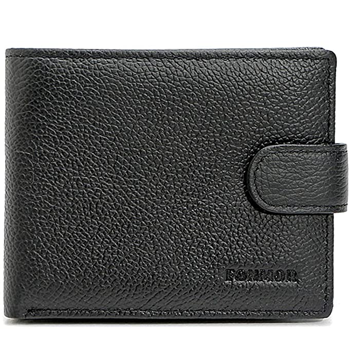 FONMOR RFID Blocking Leather Wallet for Men - Bifold Wallet Designed in the  USA using Genuine Leather at Amazon Men s Clothing store  05e28e0161c2